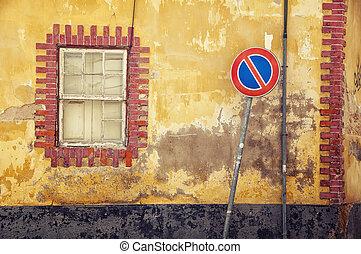 Streets of old town Faro in Algarve, Portugal