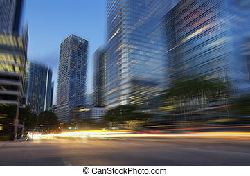 Downtown Miami Financial District Brickell motion cityscape