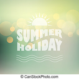 Vector sunny shine background with summer text - Vector...