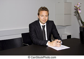 Business man with contract