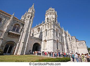 Jeronimos Monastery in Lisbon, Portugal - LISBON, PORTUGAL -...