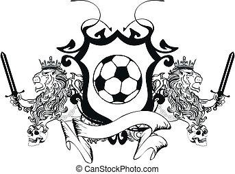 lion heraldic coat of arms soccer0 - lion heraldic coat of...