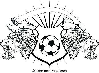 lion heraldic coat of arms soccer2 - lion heraldic coat of...