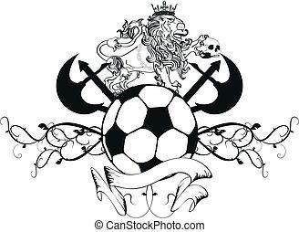 lion heraldic coat of arms soccer9 - lion heraldic coat of...
