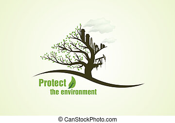 Protect the environment the concept of green