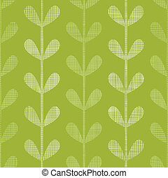 Abstract textile green vines leaves seamless pattern...