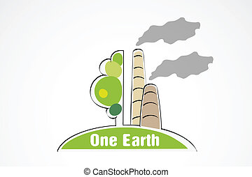 pollution of nature. concept of ecology problem green