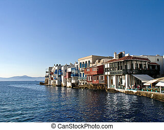 Little Venice, Mikonos, Greece - Little Venice (Alefkantra),...