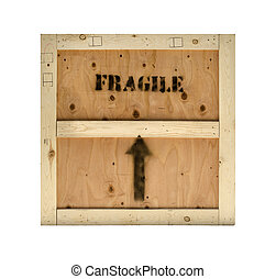 Fragile cargo wood crate