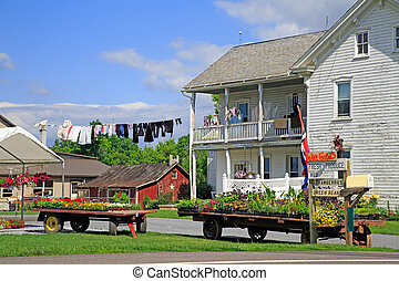 Amish Roadside Market - An Amish roadside market in rural,...