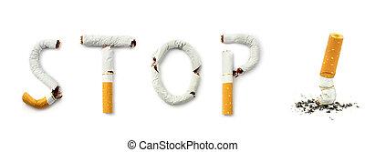 Stop smoking on white background