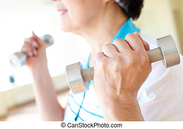 Exercising with barbells