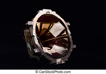 CRT Part - CRT Internal Part Component Isolated on a Black...