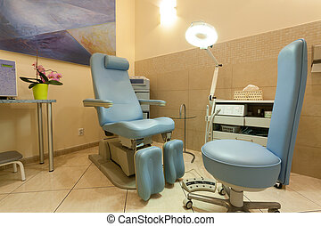 Room with professional equipment in beauty salon - Empty...