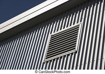 Architectural detail of metal cladding - Geometric detail