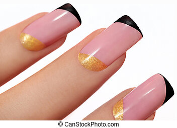 Fashion nails. - Fashion nails on artificial nails with...