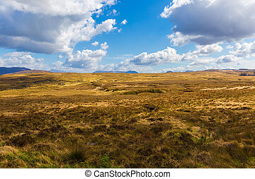 Landscape of County Galway in Connacht