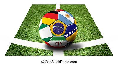 Football - Soccer artwork for Championship 2014 Brazil