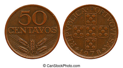 fifty centavos, Portugal, 1978