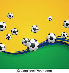 Vector Soccer Background - Vector Illustration of a Soccer...