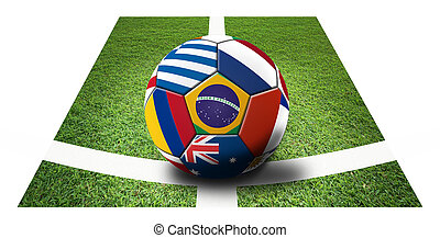 Football - Soccer artwork for Championship 2014 Brazil