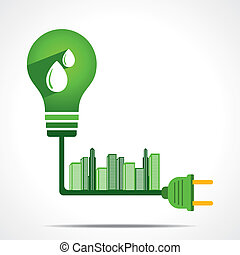 green energy concept - generate green energy from hydro...