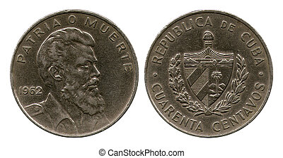 twenty five centavos, Cuba,1962 - twenty five centavos,...