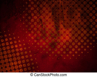 Dark Red Grunge Halftone Texture - Abstract Grunge Halftone...
