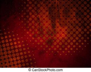 Dark Red Grunge Halftone Texture - Abstract Grunge Halftone...
