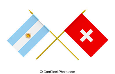 Flags, Argentina and Switzerland - Flags of Argentina and...