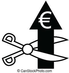 Cut the euro arrow