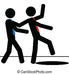 Save man - Vector , illustration. A man save another man...