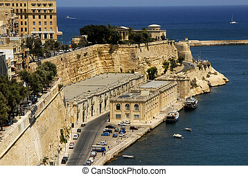 Valetta harbor view, Capital of Malta island