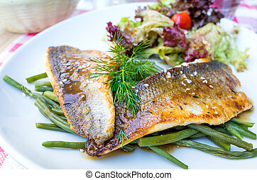 Exquisite French cuisine - Fine dining cuisine - french dish...
