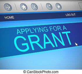 Grants concept. - Illustration depicting a computer screen...