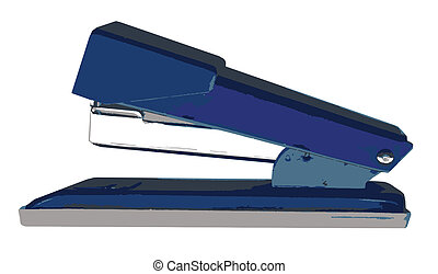 Stapler - A typical office stapler isolated on a white...