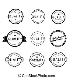 Collection of Premium Quality and Guarantee Labels with...