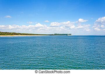Ruegen shore near Goehren - Baltic sea coast near Goehren,...