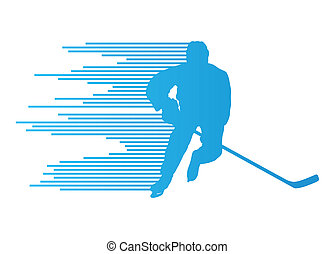 Hockey player silhouette vector background concept made of...