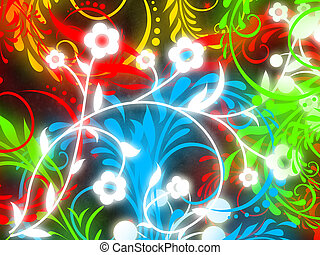 colorful flourish background