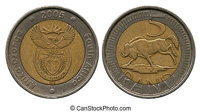 five rand, South Africa, 2005