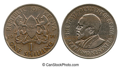 one shilling, Kenya, 1971 - one shilling, The first...