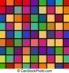 Colourful Glass Tiles - Digitally created stained glass blue...