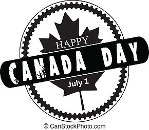 Stamp Canada Day - Creative stamp for the celebration of...