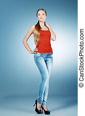 slender woman