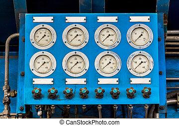 Pressure gauge in factory