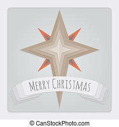 Star Christmas Card