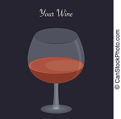 Red Wine - Glass of red wine on isolated grey background
