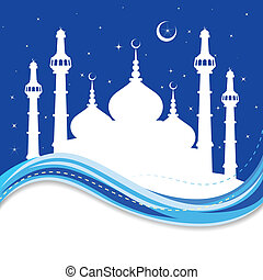 Eid Mubarak ( Blessing for Eid) background - vector...