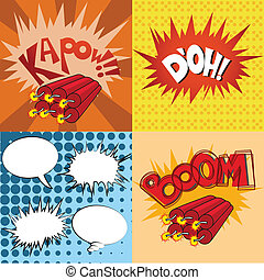 comic expression - some colored comic expressions in...